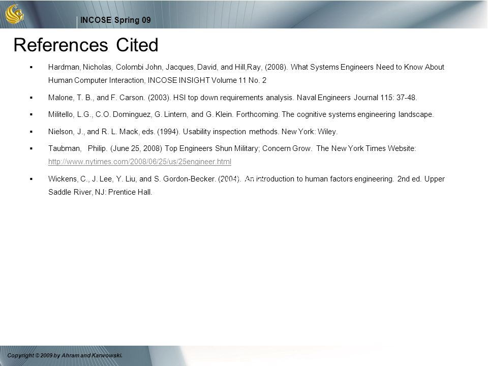 References Cited I/ITSEC