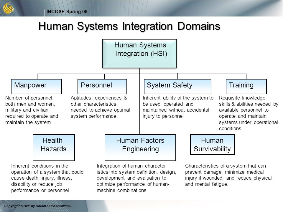 Human Systems Integration Domains