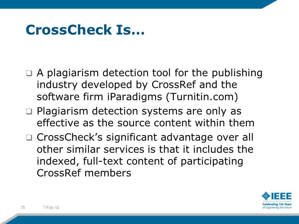 3/27/2017 CrossCheck Is…