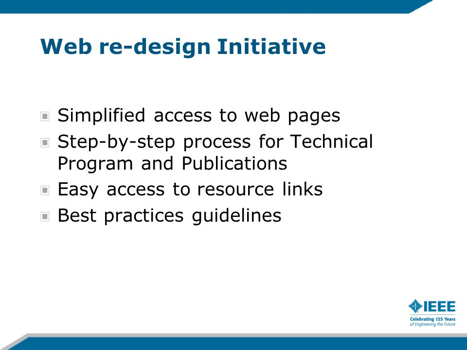 Web re-design Initiative