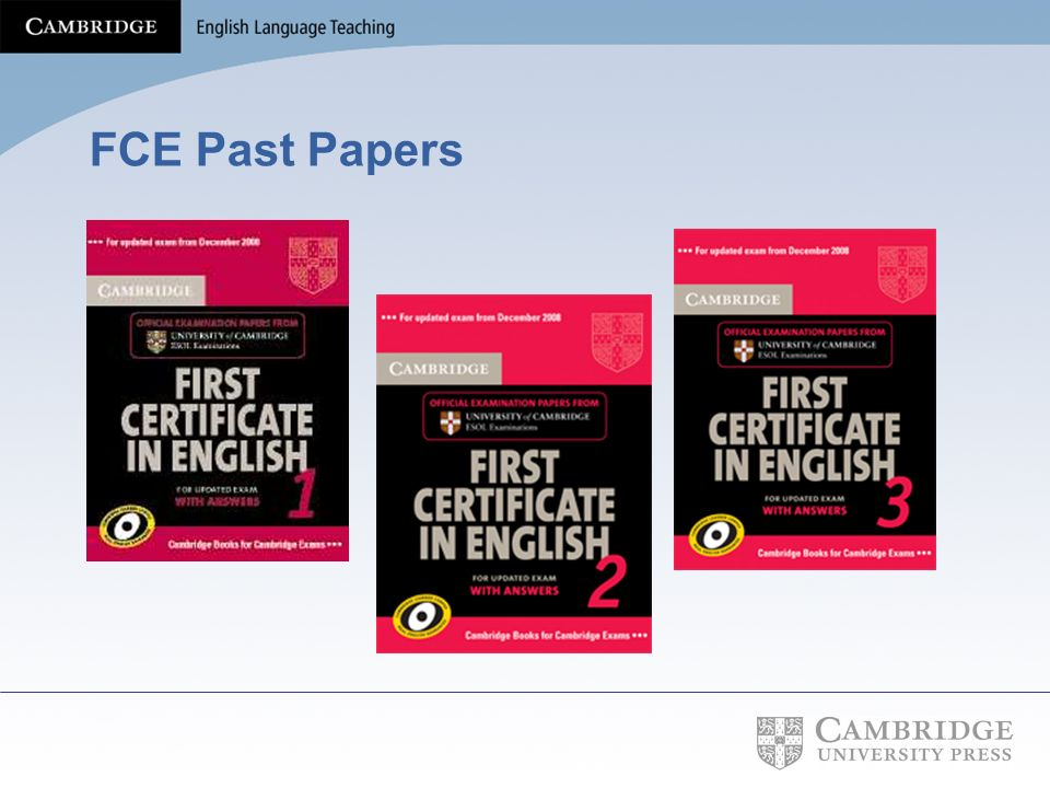 FCE Past Papers