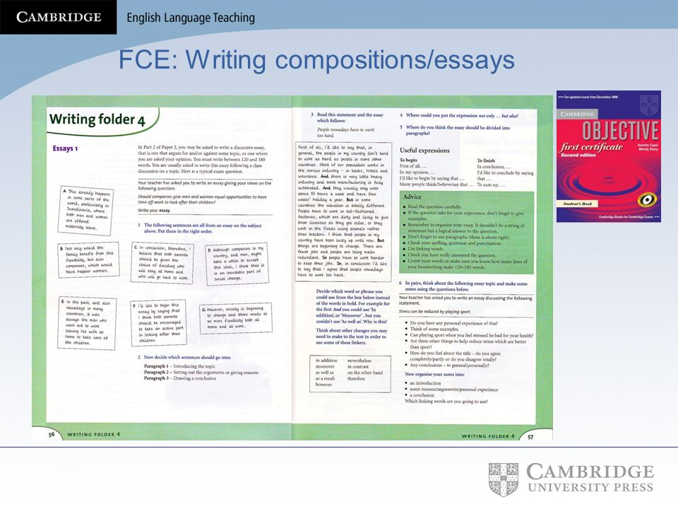 FCE: Writing compositions/essays