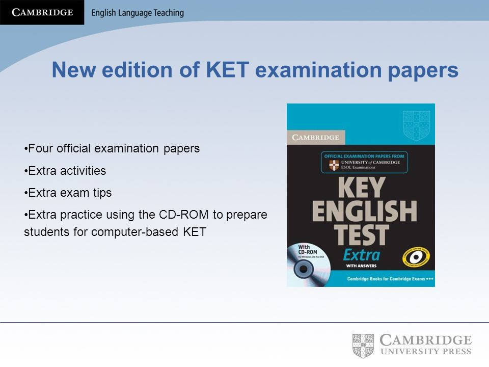 New edition of KET examination papers