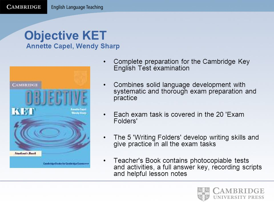 Objective KET Annette Capel, Wendy Sharp