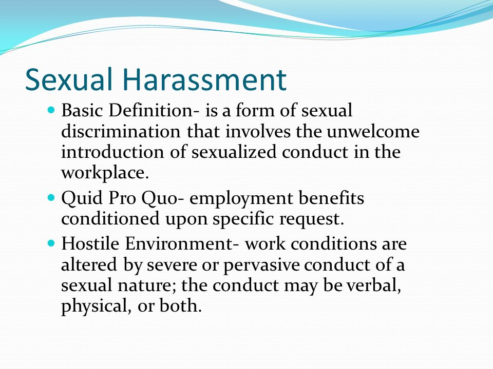 What Defines Sexual Harassment