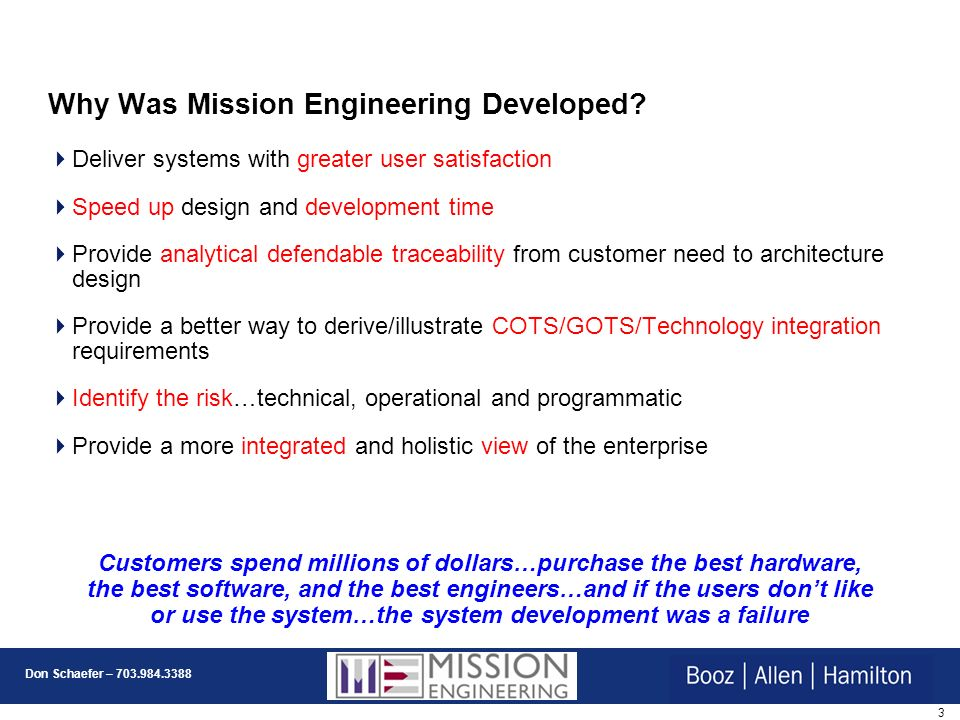 Why Was Mission Engineering Developed