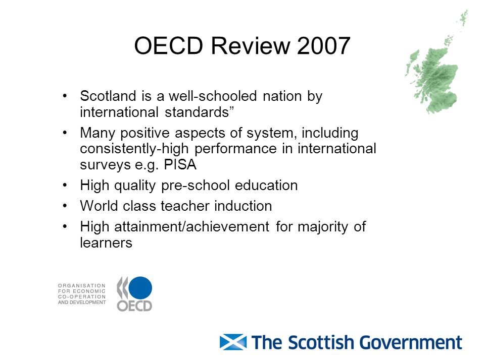 OECD Review 2007 Scotland is a well-schooled nation by international standards