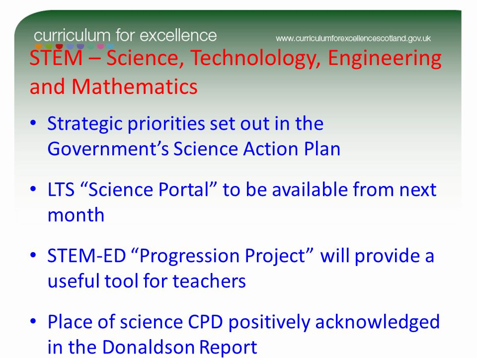 STEM – Science, Technolology, Engineering and Mathematics