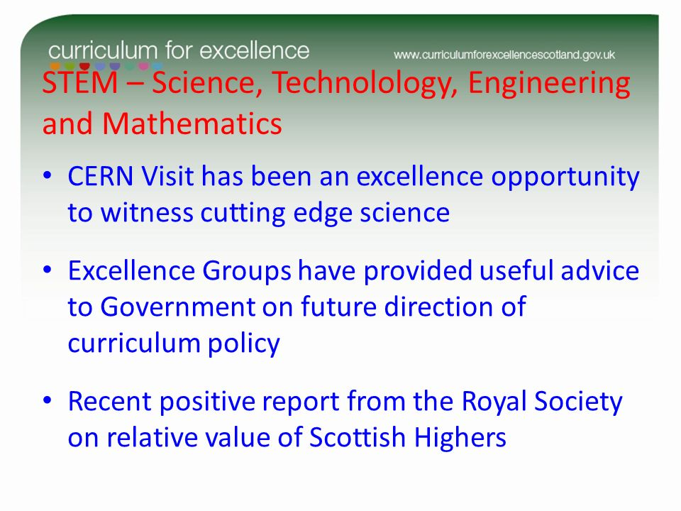 STEM – Science, Technolology, Engineering and Mathematics