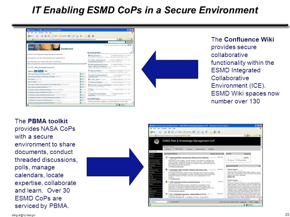 IT Enabling ESMD CoPs in a Secure Environment