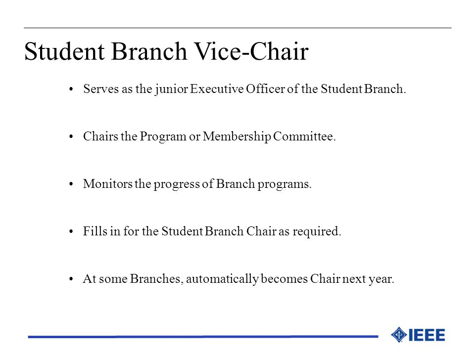 Student Branch Vice-Chair