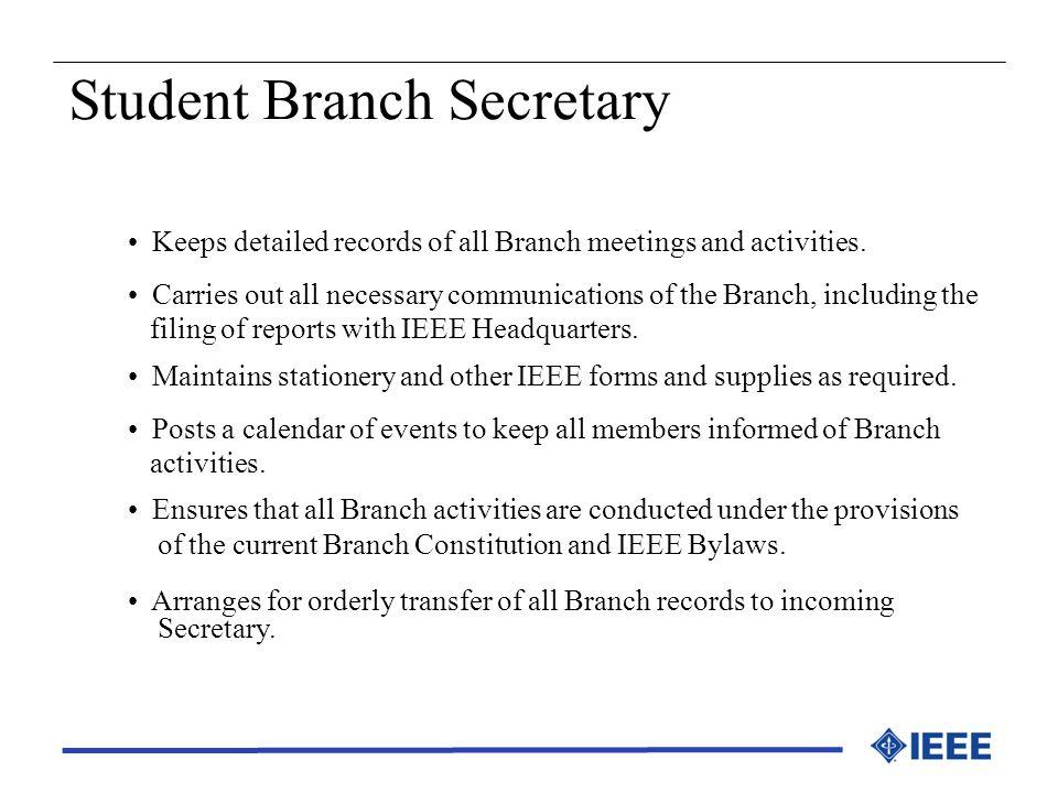 Student Branch Secretary