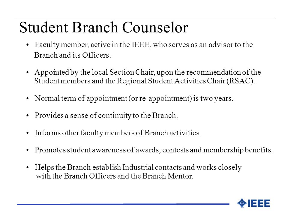Student Branch Counselor