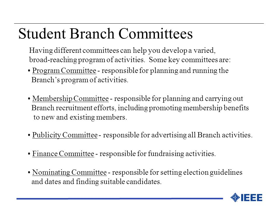 Student Branch Committees