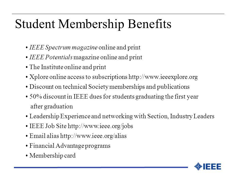 Student Membership Benefits