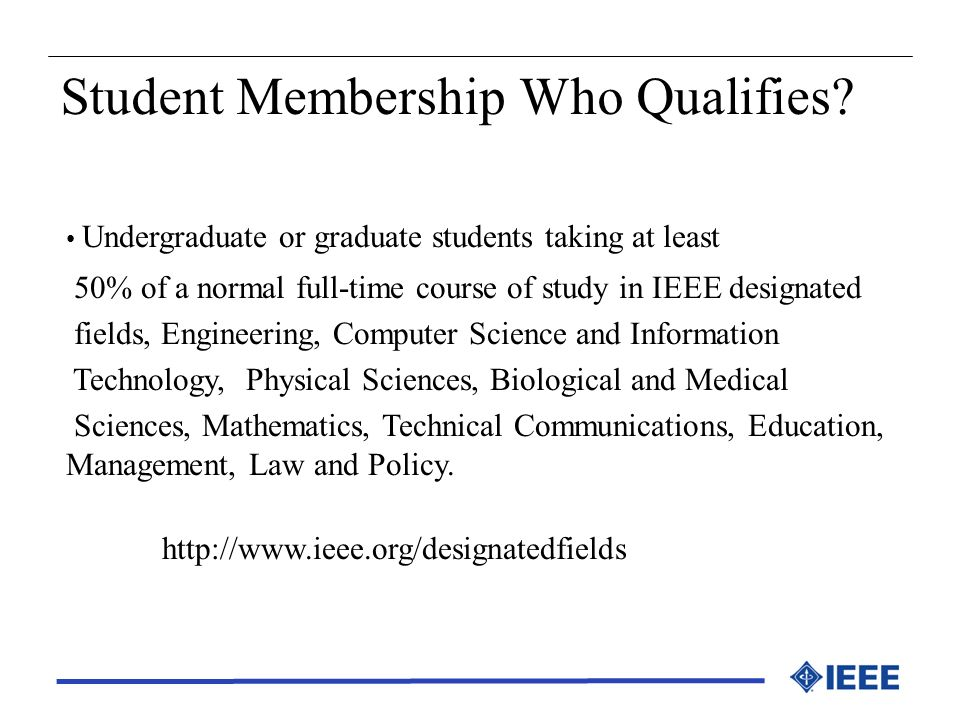 Student Membership Who Qualifies