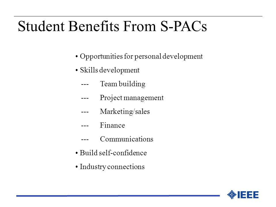 Student Benefits From S-PACs