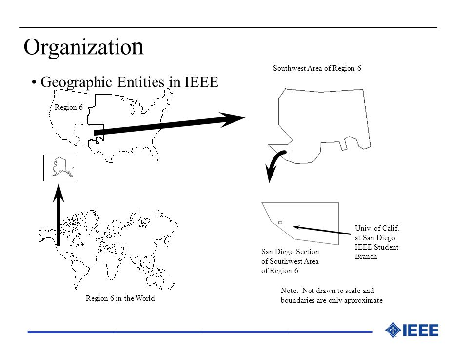 Organization Geographic Entities in IEEE Southwest Area of Region 6