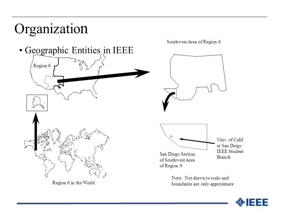 Organization Geographic Entities in IEEE Southwest Area of Region 6