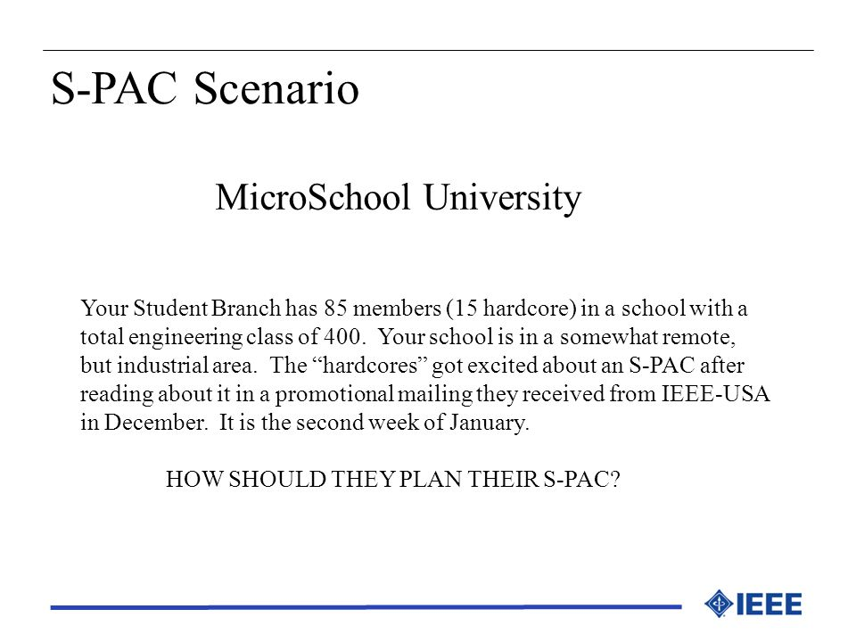 S-PAC Scenario MicroSchool University