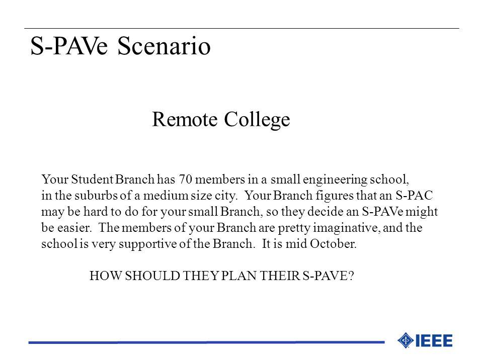 S-PAVe Scenario Remote College