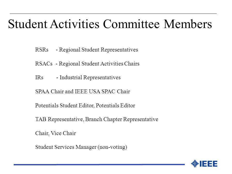 Student Activities Committee Members