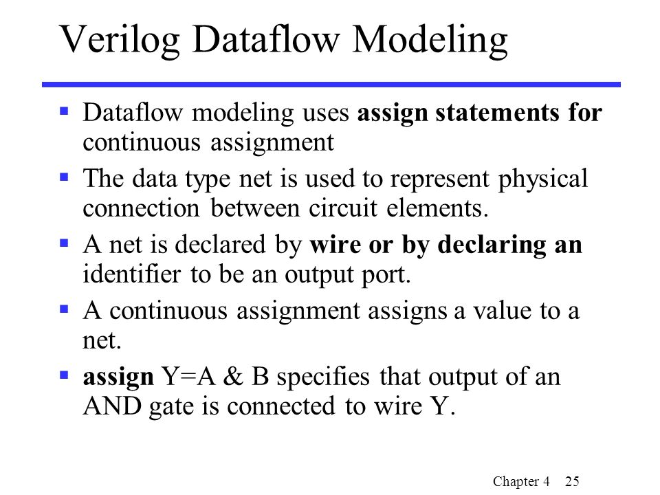 assign verilog Assignment operators [] there are three assignment operators, each of which performs different tasks, and are used with different data types: assign (continuous assignment).