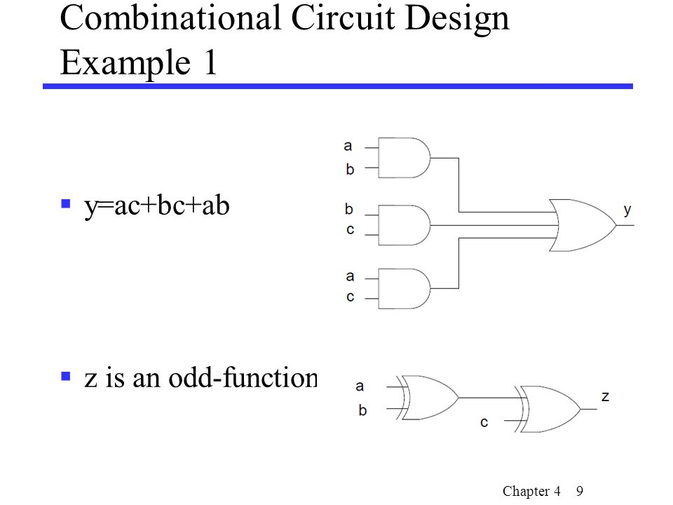 outline analysis of combinational circuits signed number