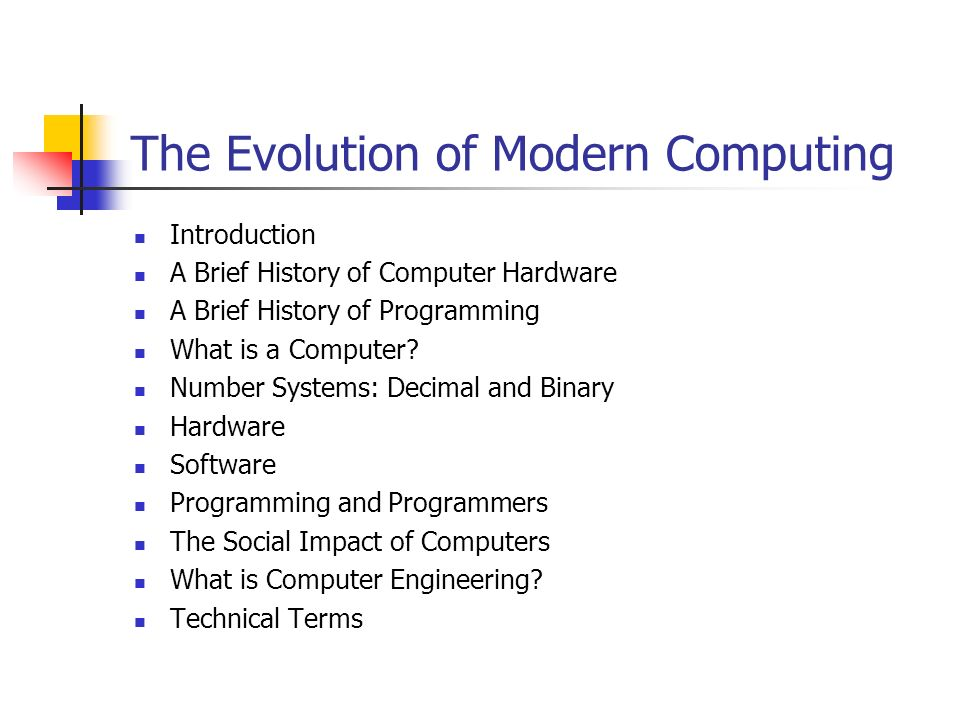 a brief history on the evolution of computers
