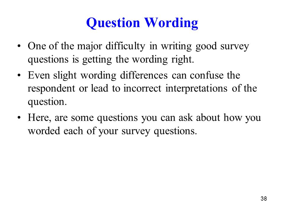 survey questions research paper