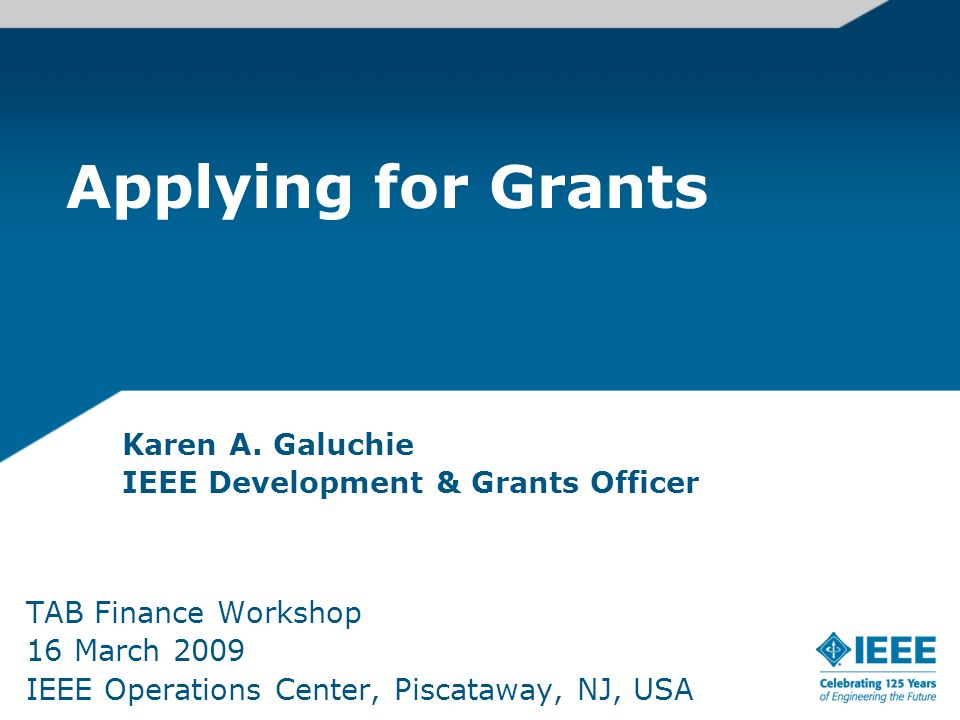 Karen A. Galuchie IEEE Development & Grants Officer