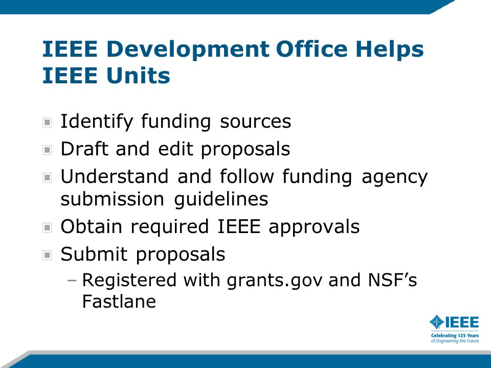 IEEE Development Office Helps IEEE Units