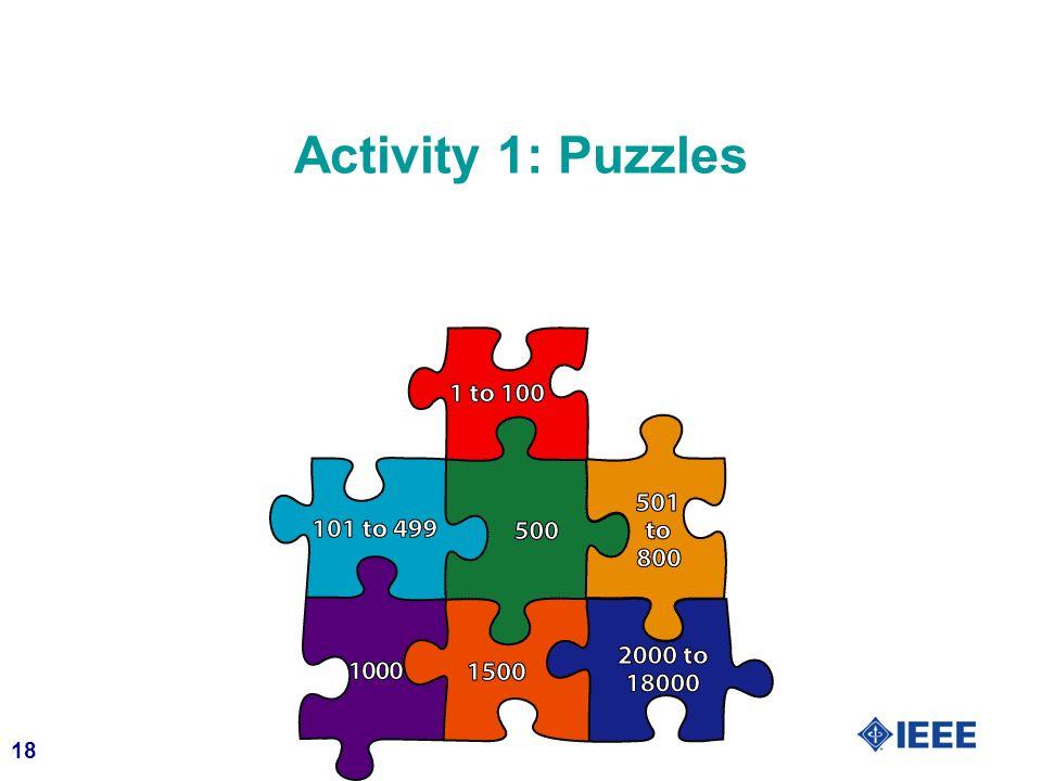 Activity 1: Puzzles