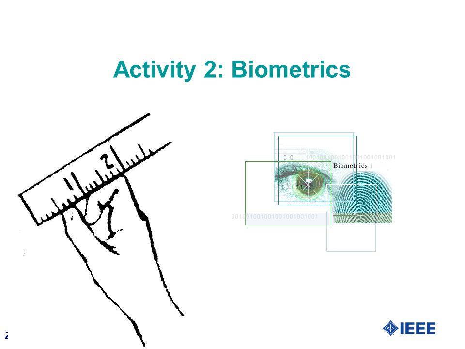 Activity 2: Biometrics