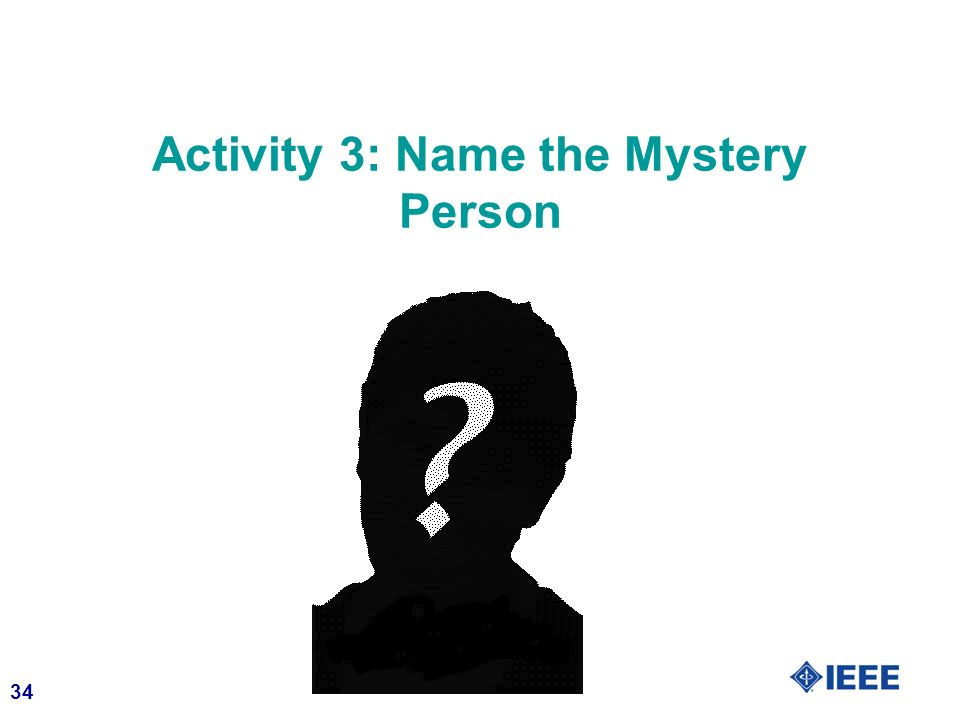 Activity 3: Name the Mystery Person