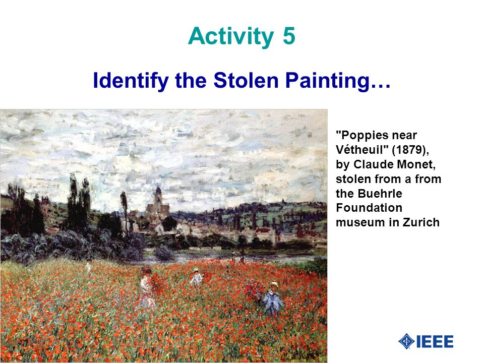 Identify the Stolen Painting…