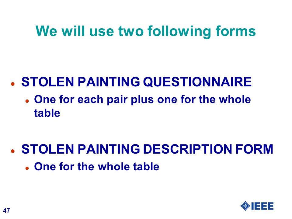We will use two following forms