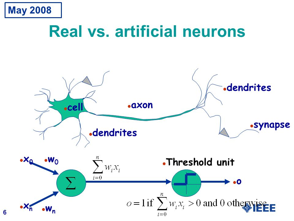 Real vs. artificial neurons