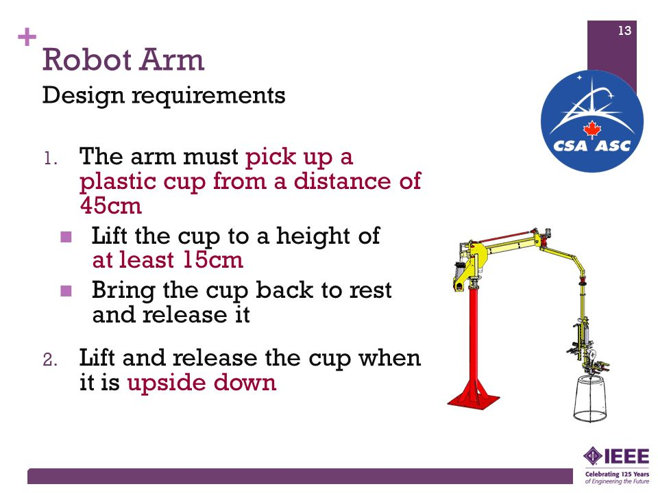 Robot Arm Design requirements