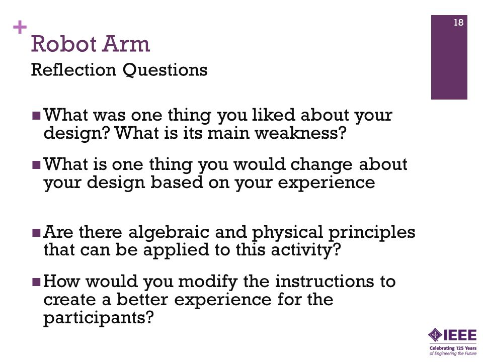 Robot Arm Reflection Questions