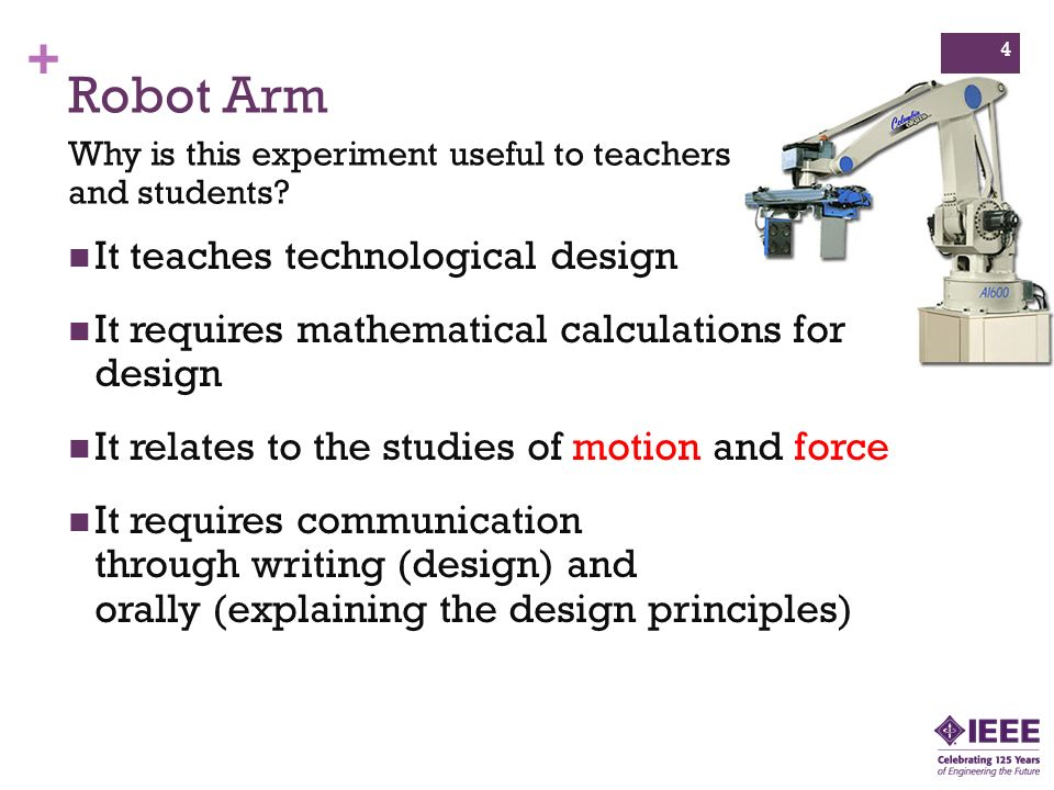 Robot Arm It teaches technological design