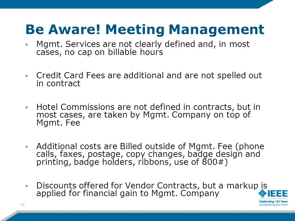 Be Aware! Meeting Management