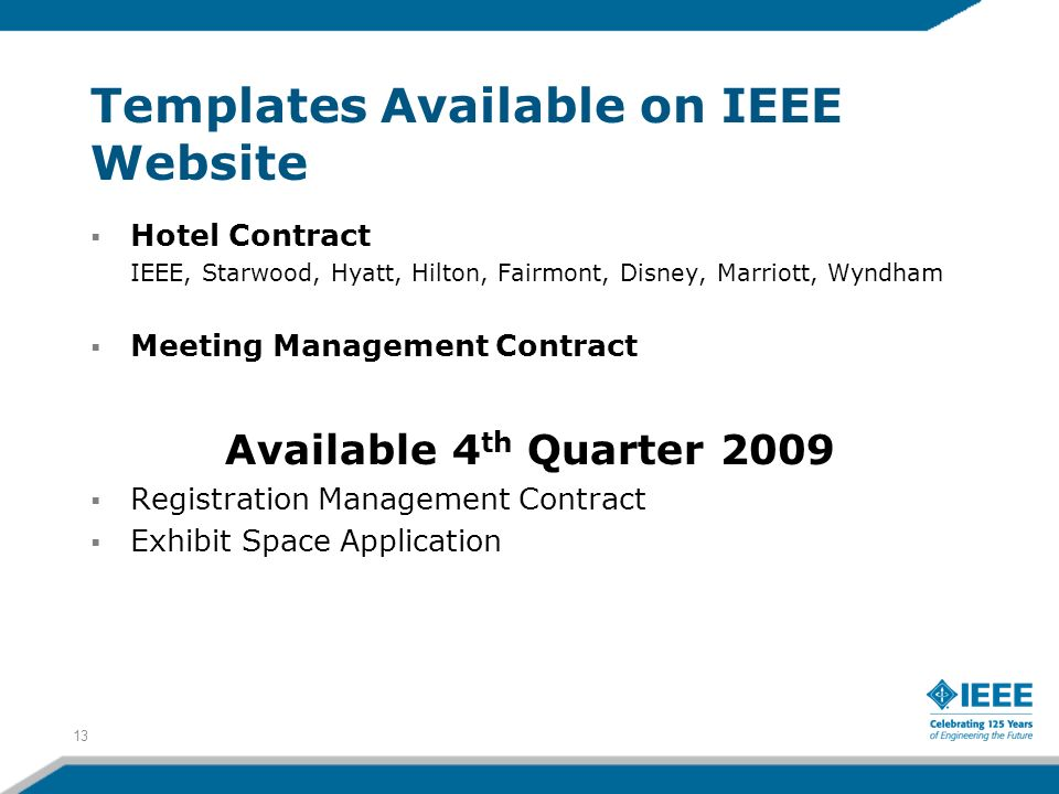 Templates Available on IEEE Website