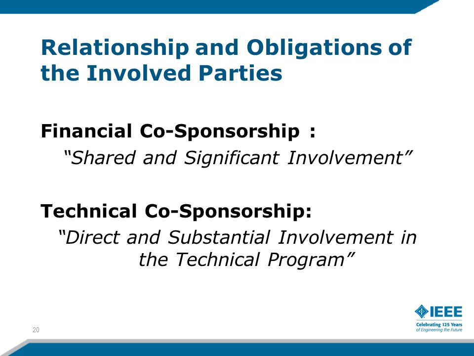 Relationship and Obligations of the Involved Parties