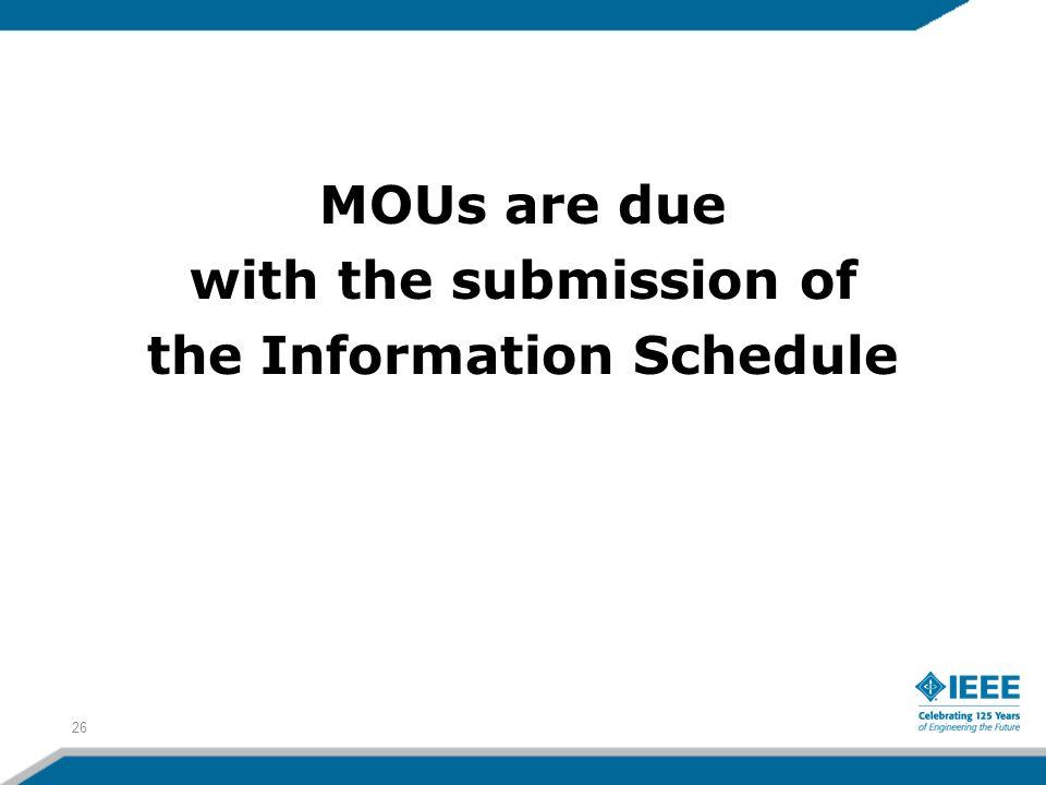 the Information Schedule