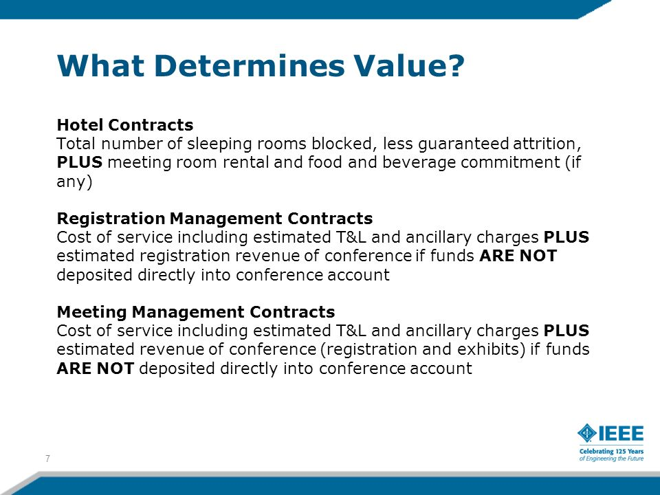 What Determines Value Hotel Contracts