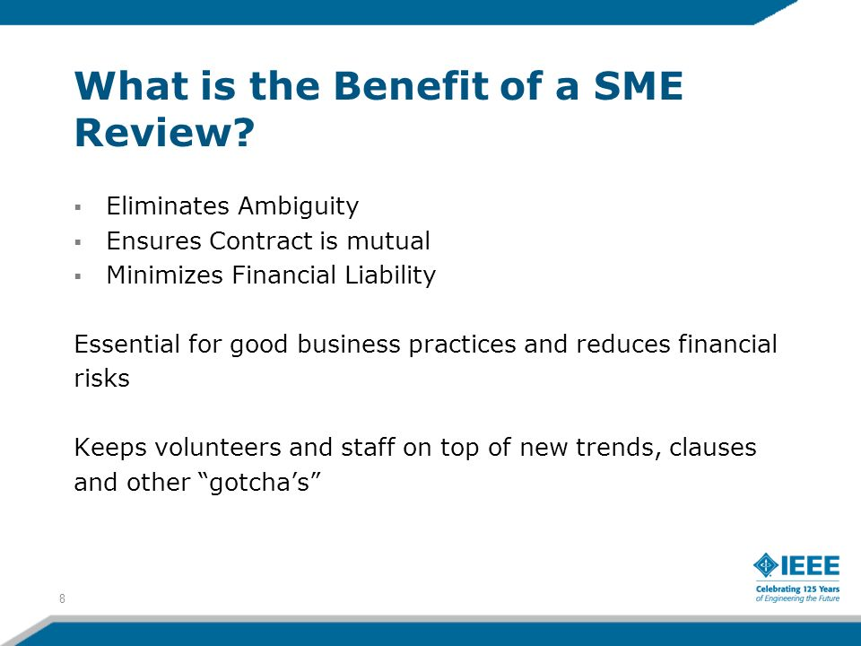 What is the Benefit of a SME Review