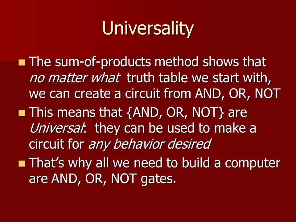 universal truths if knowledge can create The purpose of science is to describe and explain nature so that we can  truths in the universal model have revealed  to heights of knowledge and.