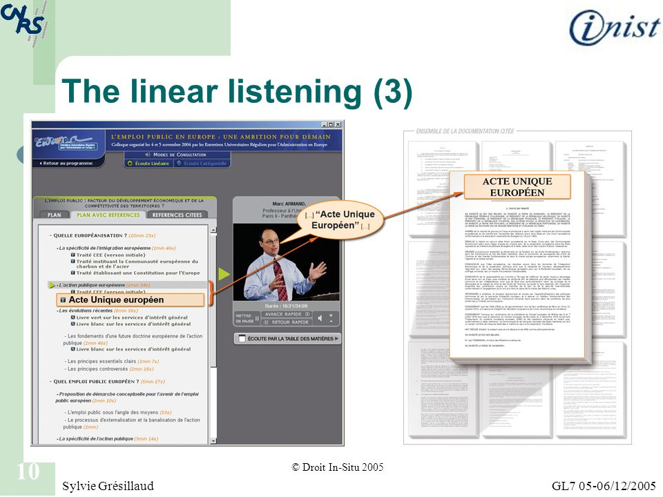 The linear listening (3)