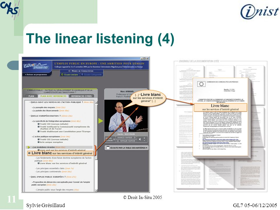 The linear listening (4)
